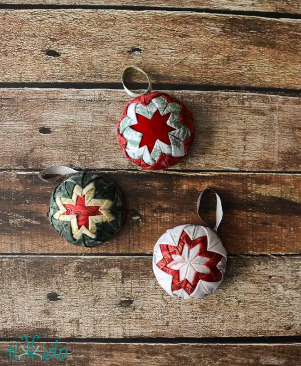 Quilted Christmas Ornament Tutorial