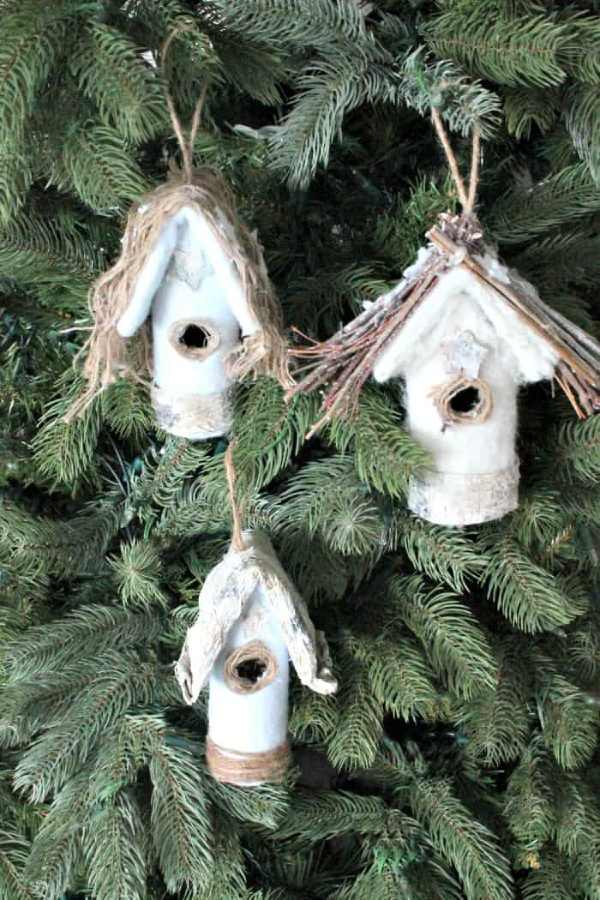 Christmas Tree Ornament Bird Houses