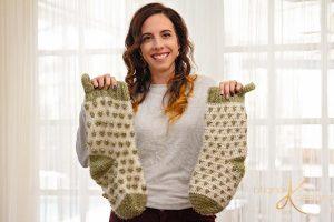 Free Crochet Pattern for a Polka Dot Christmas Stocking
