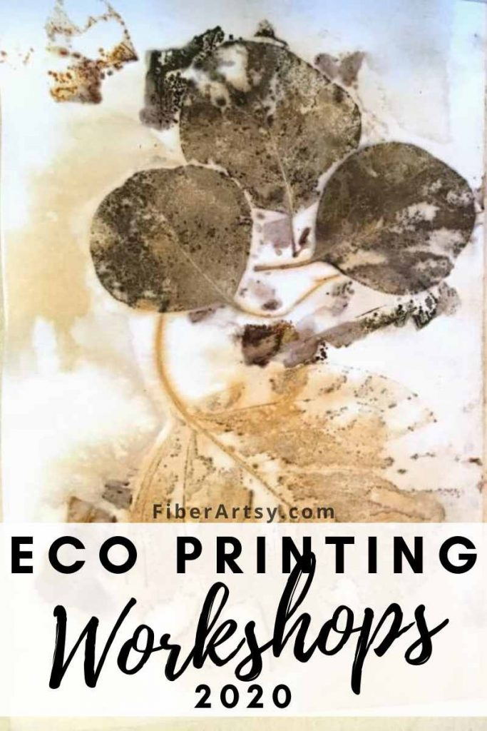 Eco Printing Workshops and Classes in 2020