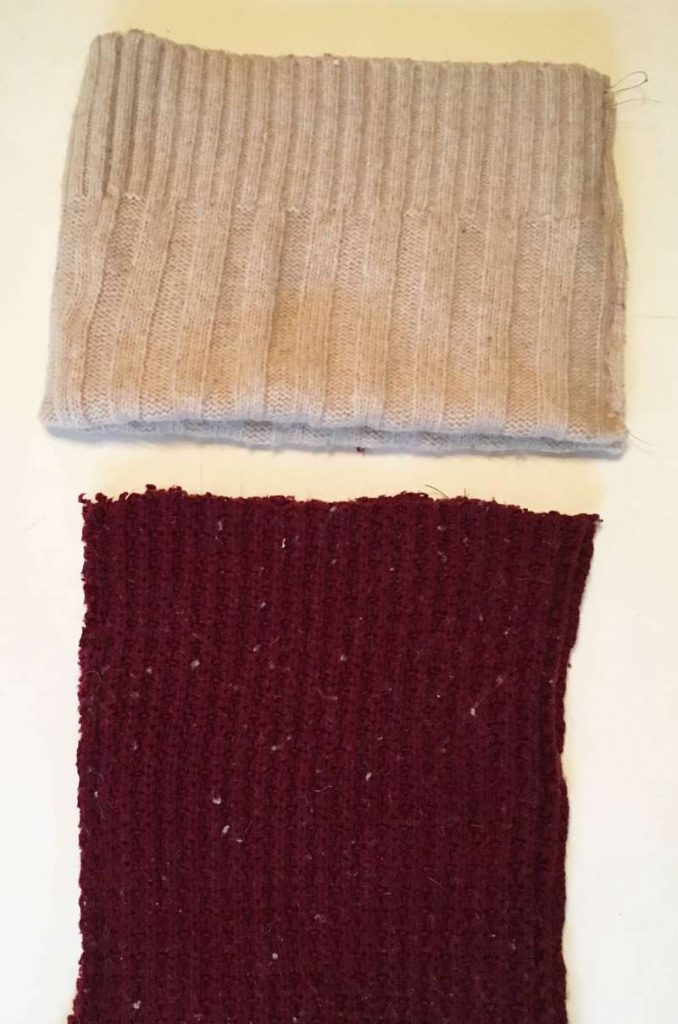 How to sew the cuff into the Christmas stocking