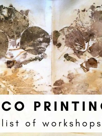 eco printing workshops in the USA in 2020