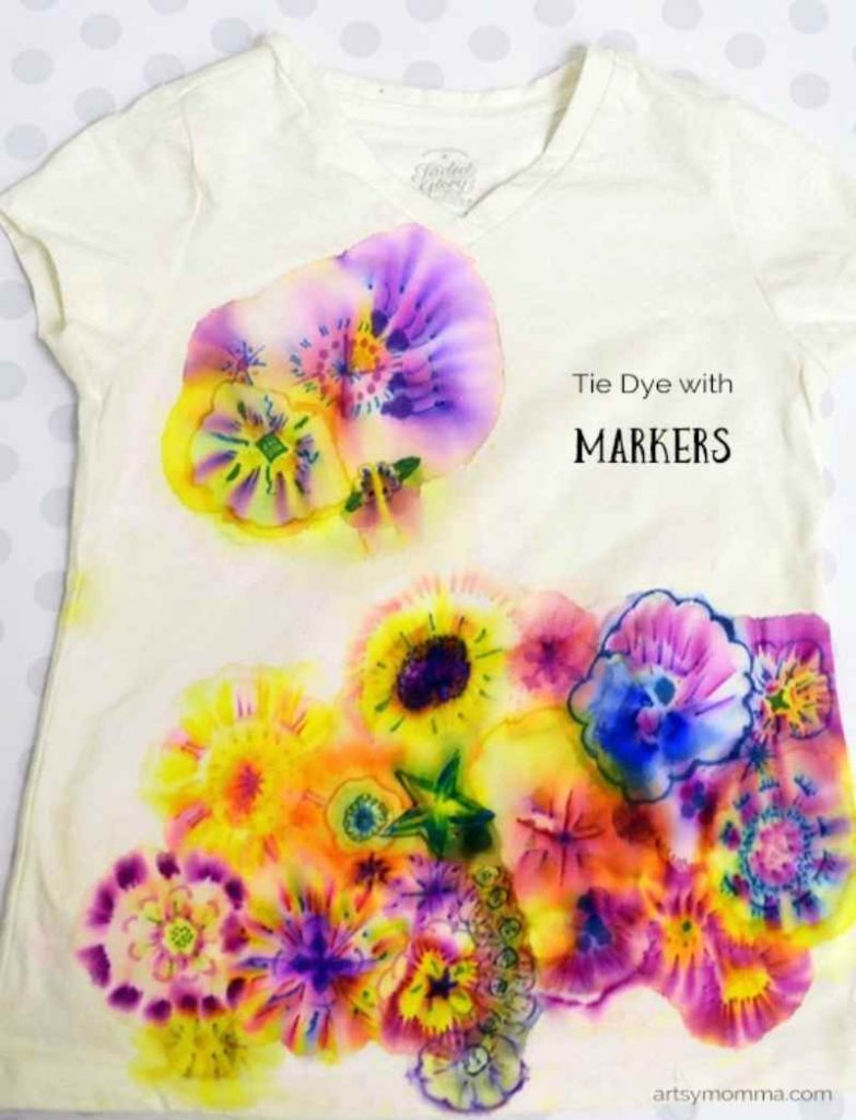 Tie Dye T Shirts with Sharpie Markers