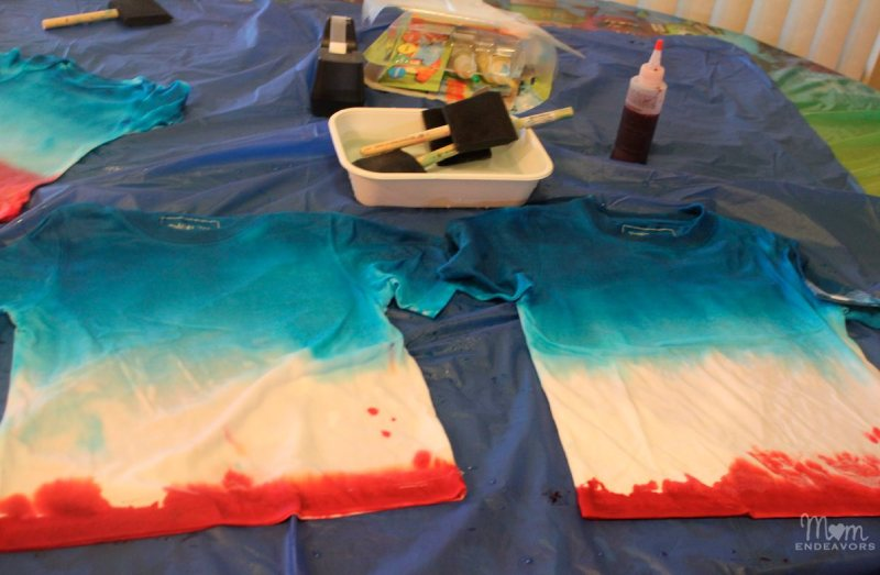 Patriotic Ombre Dyed T Shirts