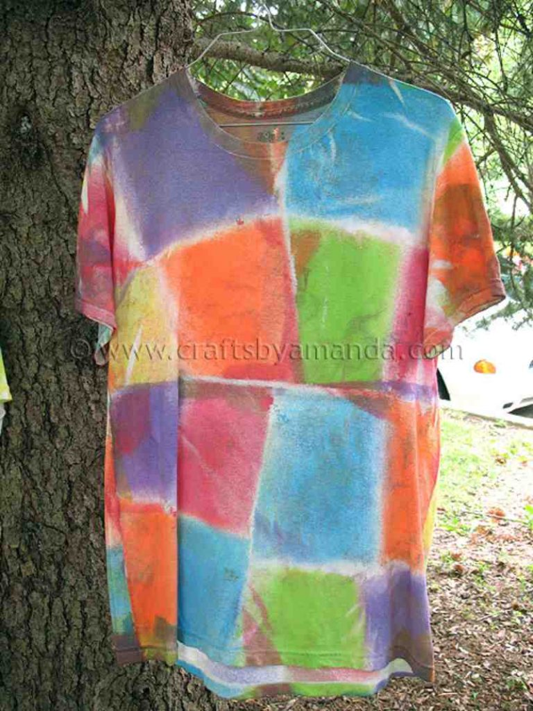 Fabric Paint Dyed T Shirts