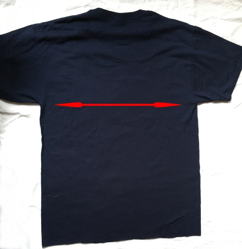 Cut the T Shirt from one armpit to the other