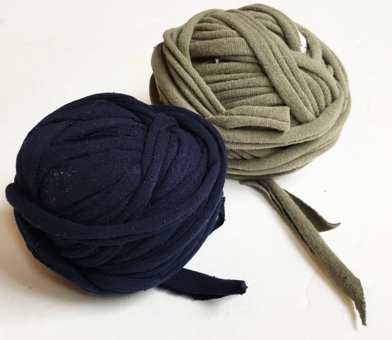 Balls of finished t shirt yarn