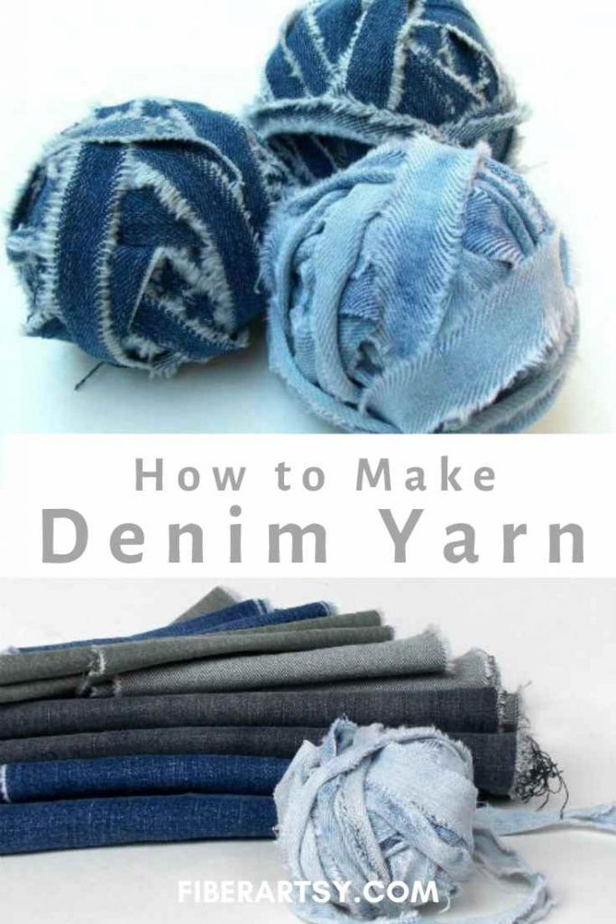 How to Make Denim Yarn from Old Jeans