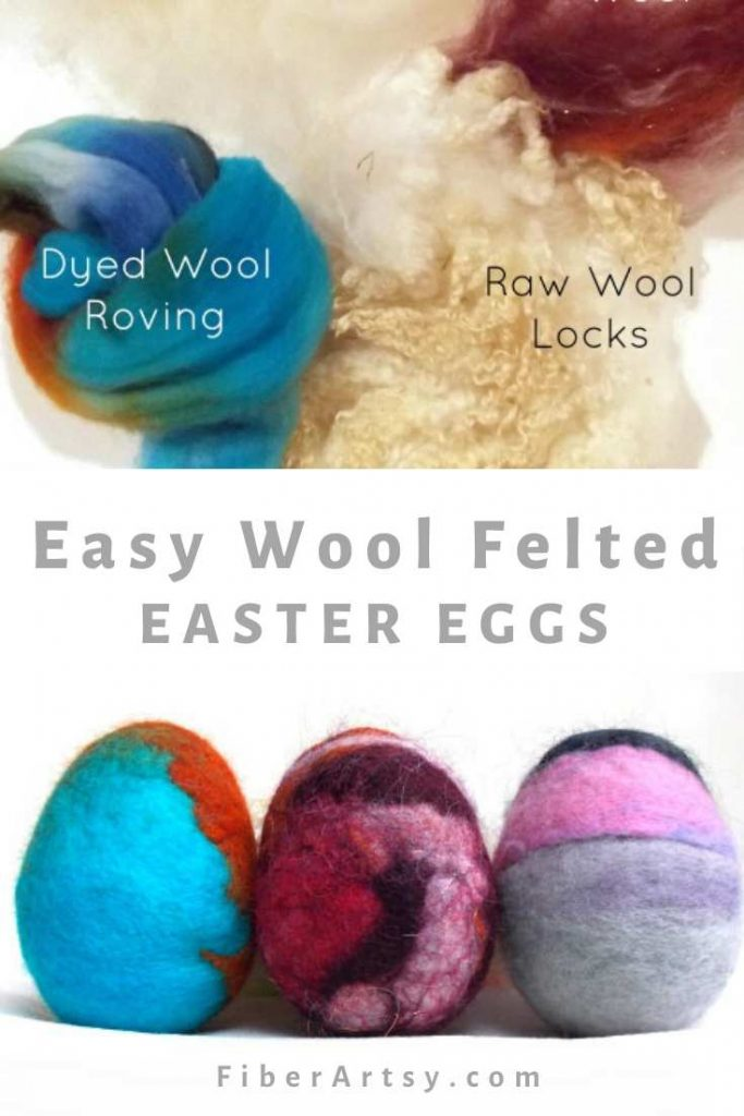 Wet Wool Felted Easter Eggs