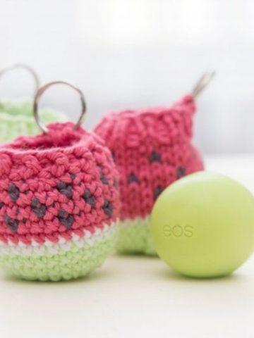 Free Crochet Pattern for a Lip Balm Holder