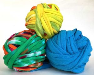 Balls of handmade TShirt Yarn