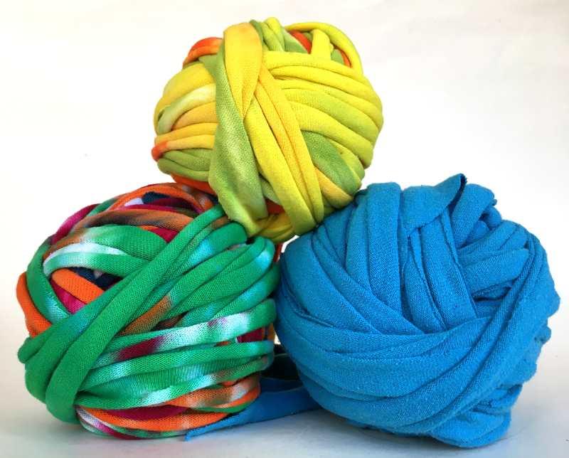 Balls of handmade TShirt Yarn