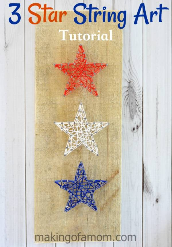 3 Star String Art