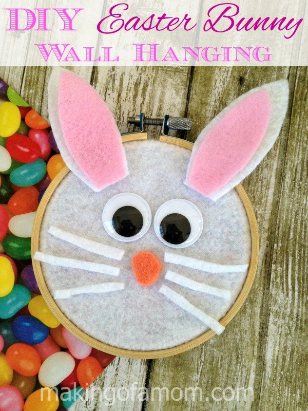 DIY Easter Bunny Wallhanging for Kids to make