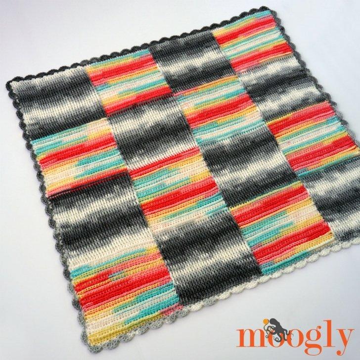 Free Crochet Pattern Basketweave Blocks Blanket