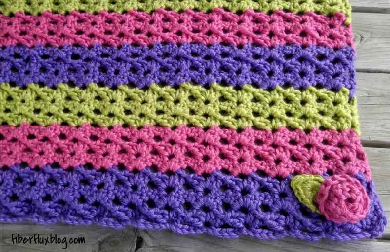 Sorbetto Baby Blanket and Play Mat Free Crochet Pattern