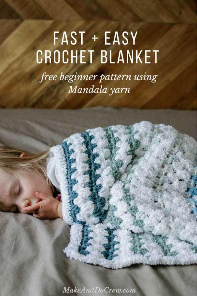 Tributary Baby Crochet Blanket or Afghan Free Pattern