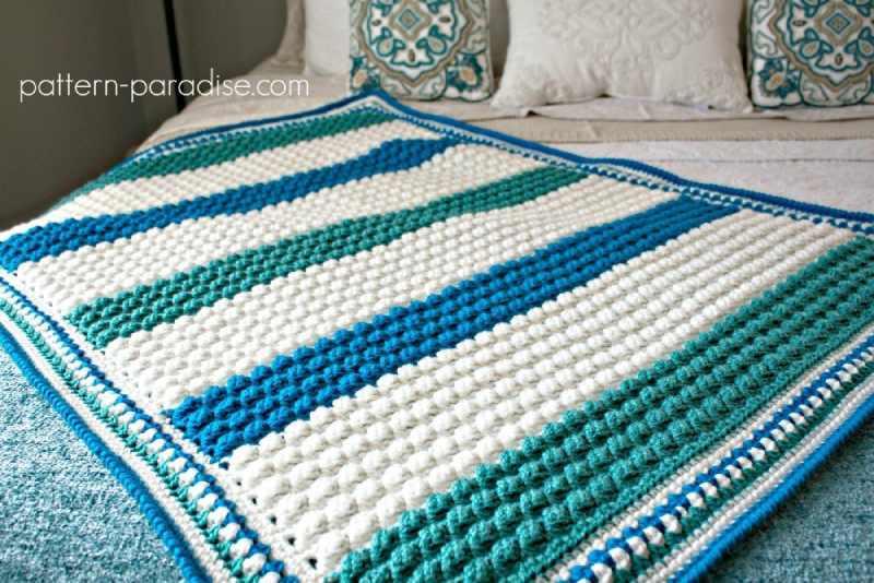 Free Crochet Pattern Hawaiian Baby Blanket