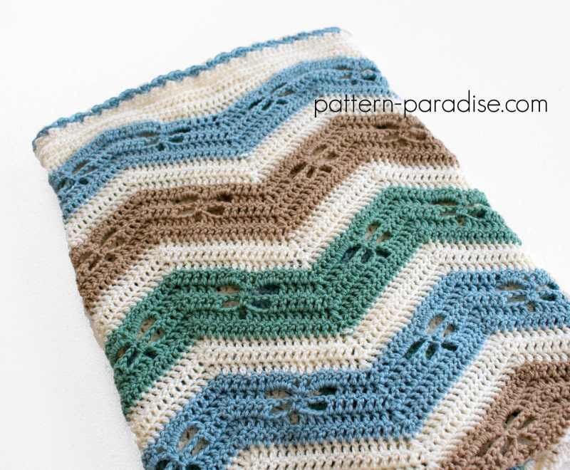 Free Crochet Pattern for a Baby Blanket by Pattern Paradise