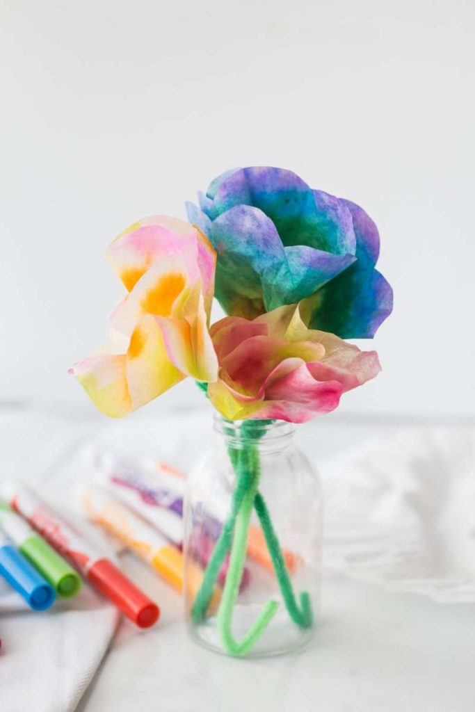 Coffee Filter Flowers Craft