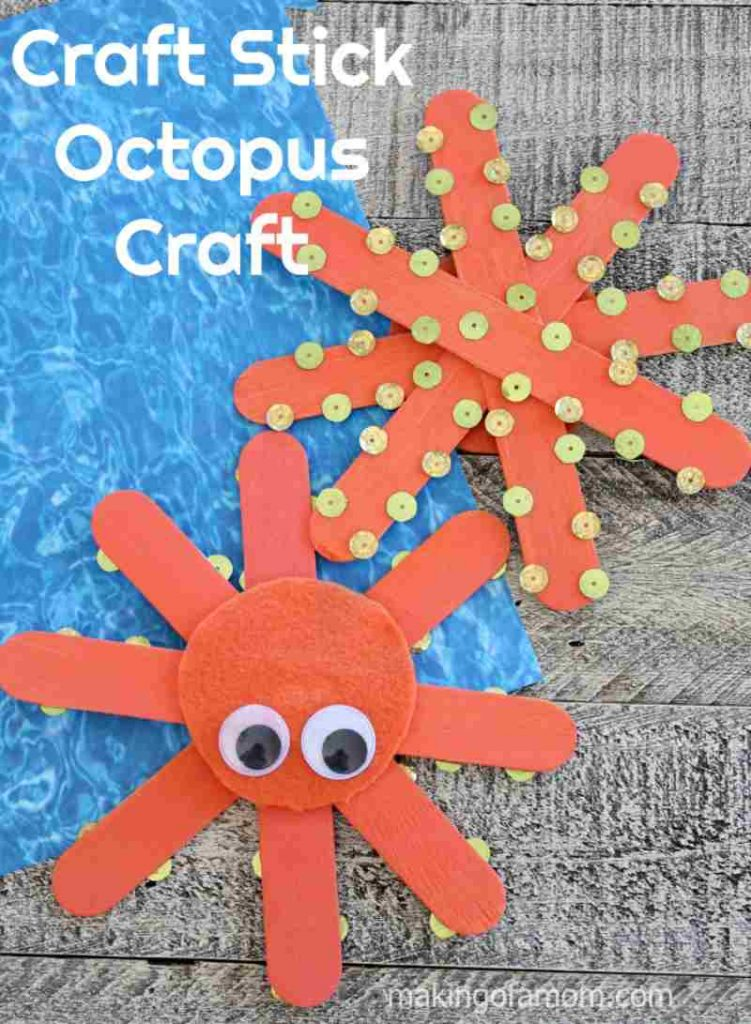 Craft Stick Octopus