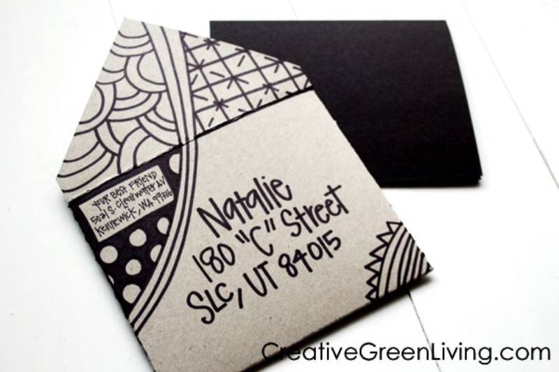Fun kids craft idea - DIY Envelope