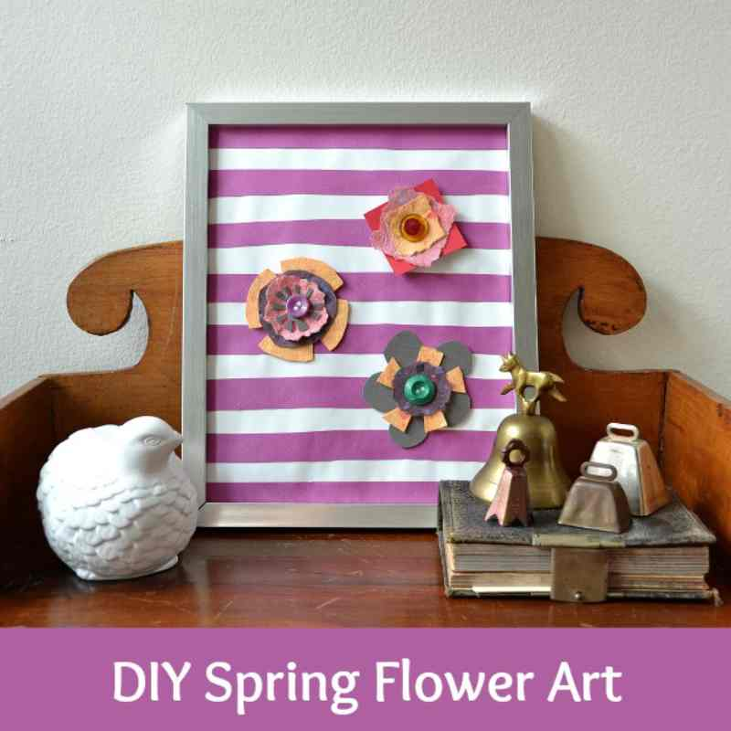 Spring Flower Art for Kids Crafts