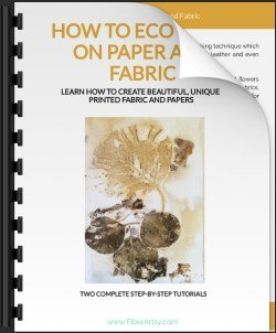 Ebook Tutorials Eco Printing on Paper and Fabric