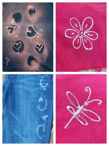 Bleach Pen Reverse Dyeing on Fabric