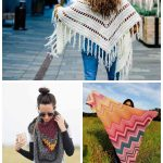 Triangle wrap or shawl patterns for crocheting